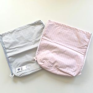 Gap Set of 2 Padded Drawstring Bags Pink & Blue